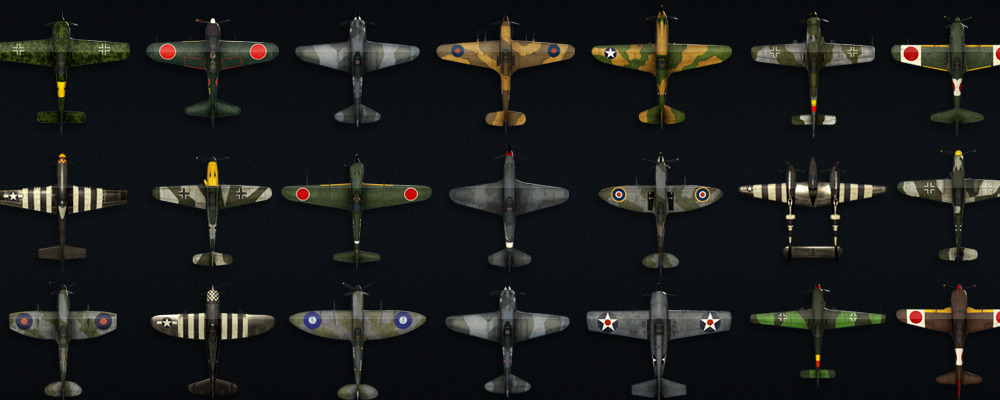 Fly dozens of authentic WWII Aircraft